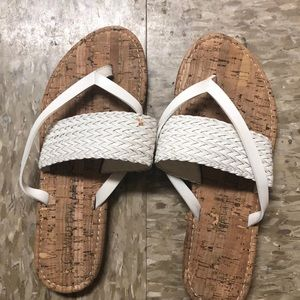 Woven Thong Sandals (small scuff on left sandal)